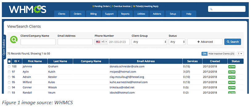 How to hide Inactive Clients in WHMCS?