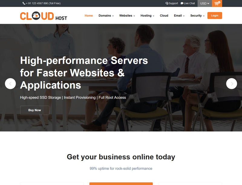 cloud host supersite theme