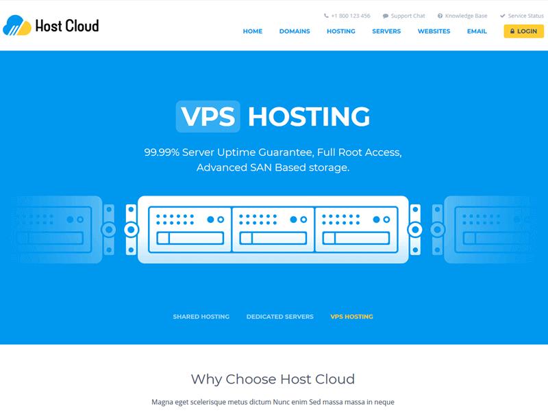 host cloud whmcs theme