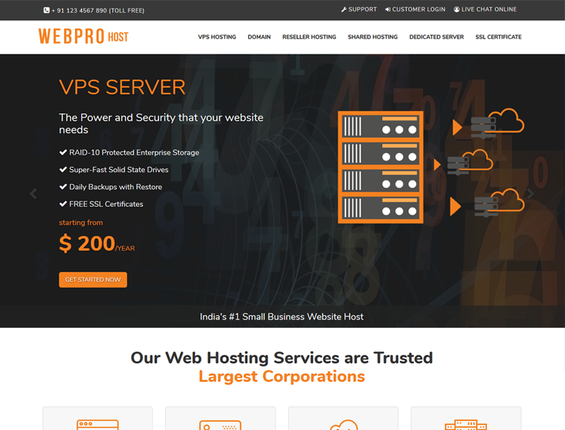 webpro host html template