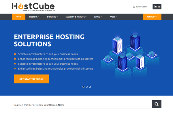 hostcube wordpress theme