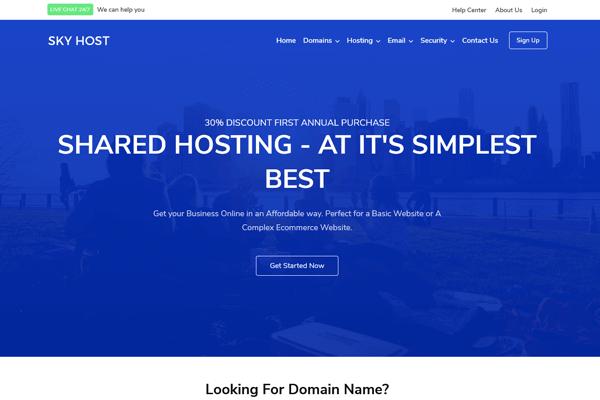 skyhost html template