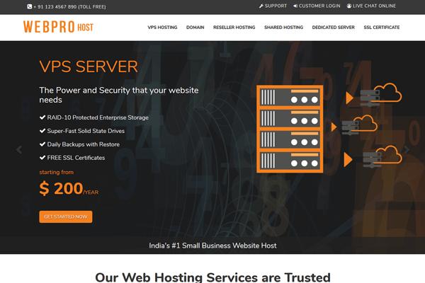 webpro-host whmcs theme